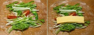 パリ麺サラダで作る水菜と彩り野菜の生春巻き5.JPG